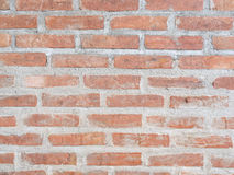 Red brick wall. And cement texture stock photos
