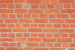 Red brick wall close perspective royalty free stock photo
