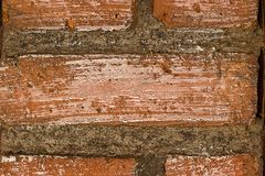 Red brick wall close up background stock photos