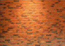 Red brick wall close up texture background, seamless Royalty Free Stock Images