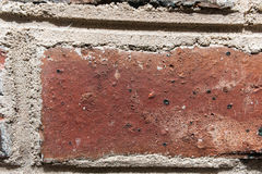 Red brick wall close up texture Royalty Free Stock Image
