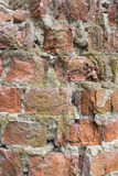 Red brick wall close-up. Texture old brickwork red brick. vintage brick background. Royalty Free Stock Images