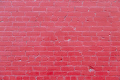 Red Brick Wall. Closeup of red  brick wall background. Photographed June 28th 2014 Stock Photo