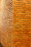 Red brick wall corner view of empty brick wall textured background, Royalty Free Stock Image