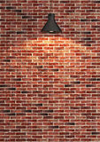 Red brick wall decoration under the spot light rendering. Interior red brick wall decoration, interior wall pattern and background Stock Image