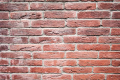 Red brick wall, decorative. texture, background, decoration. Royalty Free Stock Photo