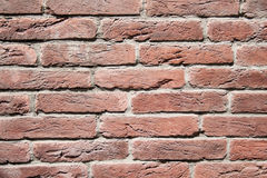 Red brick wall, decorative. texture, background, decoration. Royalty Free Stock Images