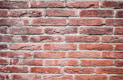Red brick wall, decorative. texture, background, decoration. Royalty Free Stock Photography