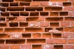 Red brick wall detail royalty free stock photography