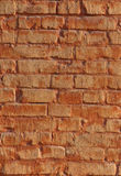 Red brick wall. Detail of red brick wall background Stock Photography