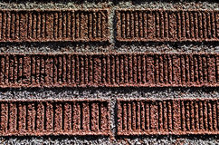 Red brick wall detail. Ed background texture Royalty Free Stock Photo