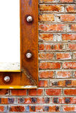 Red brick wall details Royalty Free Stock Photography
