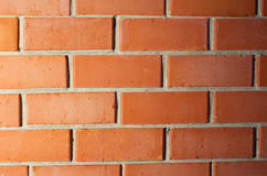 Red brick wall with gradient light Stock Images