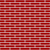 Red Brick Wall Graphic Stock Image