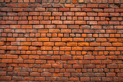 Red brick wall. Grunge old red brick wall background Royalty Free Stock Photo