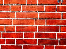 Red brick wall, grunge old brick wall texture background royalty free stock image