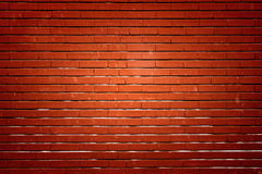 Red brick wall with highlight Stock Photography
