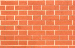 Red brick wall, horizontal Stock Photography