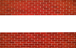 Red brick wall. horizontal line with space for text Royalty Free Stock Photography