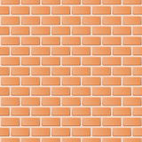 Red brick wall  illustration background. Royalty Free Stock Photos