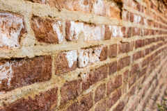 Red brick wall. Red brick layer Wa Gak is beautiful Stock Photography