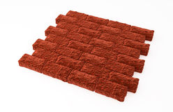 Red Brick Wall, Lying Royalty Free Stock Photography