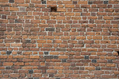 Red brick wall. Red brick medieval wall - details Stock Photography