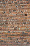 Red brick wall. Red brick medieval wall - details Stock Images
