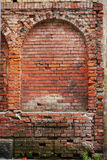 Red brick wall of the medieval houses Royalty Free Stock Image