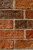 Red brick wall. Mortared red brick wall texture background Stock Image