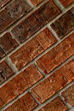 Red brick wall. Mortared red brick wall texture background Stock Photography