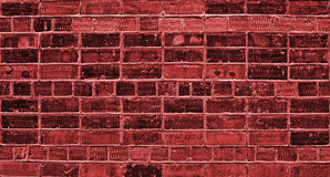 Red brick wall. Brick wall of newly built house, background, texture, red Royalty Free Stock Photography