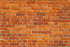 Red brick wall. Old red brick wall background Stock Photos