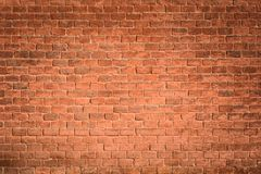 Red brick wall. A red old brick wall background Stock Images