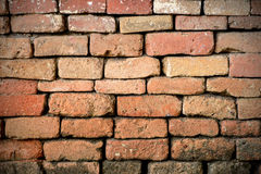 Red brick wall. Old red brick wall background Stock Image