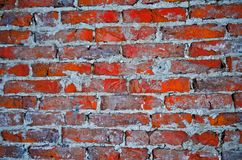 Red brick wall. An old red brick wall background royalty free stock photos