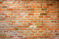 Red brick wall. Old red brick wall texture background Royalty Free Stock Photography