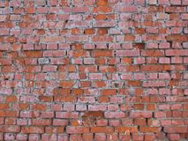 Red brick wall. Old red brick wall texture background Royalty Free Stock Photos
