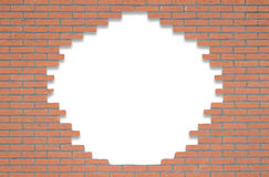 Red brick wall with opening for text Royalty Free Stock Photography