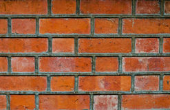 Red brick wall pattern background. Red old brick wall pattern background detail Stock Photography