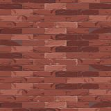 Red brick wall pattern, background, texture. Vector illustration. Stock Images
