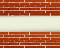 Red brick wall and place for text Royalty Free Stock Images