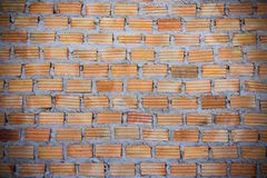 Red brick wall Red brick to build a wall to build a wall.  Royalty Free Stock Photography