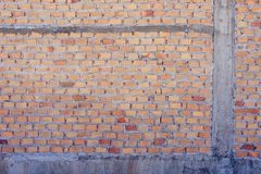 Red brick wall Red brick to build a wall to build a wall. Background Stock Photos