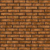 Red brick wall seamless background.  Stock Photos
