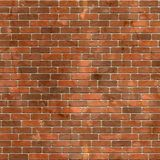 Red brick wall seamless background.  Stock Photography
