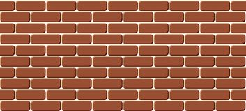 Red brick wall seamless, illustration background - texture pattern for continuous replicate. Red brick wall seamless, background - texture pattern for continuous stock illustration