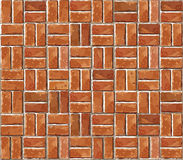 Red brick wall seamless illustration background. Royalty Free Stock Images