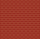 Red Brick Wall Seamless Pattern. Repeating texture of brickwork. Continuous bricks background. Simple vector illustration with bricklaying Royalty Free Stock Photos