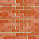 Red brick wall seamless pattern Royalty Free Stock Image